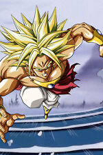 Dragon Ball Z Broly Legendary SSJ 12in x 18in Free Shipping