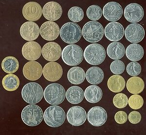 lot 20 coins France before the euro (2) ( ca )