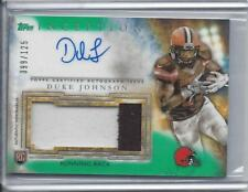 DUKE JOHNSON JR. 2015 TOPPS INCEPTION GREEN RPA ROOKIE PATCH AUTO RC #D /125