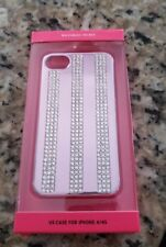 Victoria's Secret Iphone Case 4/4S Pink  Rhinestones Stripes.