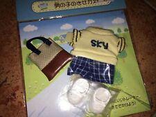 Sylvanian Family Boy Sky dress trousers Shoes & bag~ Rare