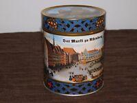 """2013  5 1/4"""" HIGH DER MARTT ZU NURNBERG GERMAN GERMANY TIN CAN *EMPTY*"""