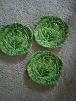 VINTAGE  3 Cabbage Lettuce  Leaves  Texture  Salad  Plates  MERVYNS  COLLECTION