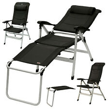 Art.30005 YACCU ALU Campingstuhl Hochlehner Relaxliege Camping Stuhl Beinablage
