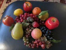 Vintage Plastic Fruit - Lot of 13