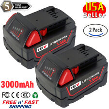 2x For Milwaukee M18 48-11-1850 48-11-1830 High Output XC3.0 Battery Li-ion Pack