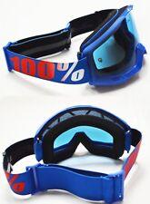 100% Por Cien ESTRATOS MOTOCROSS MX Gafas De Motocicletas nación Azul Tinte