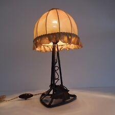 Lampe de table pied métal bronze cuivre douille à baïonnette art nouveau 1920