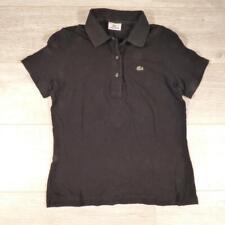 Womens LACOSTE Black Vintage Designer Polo Shirt T-Shirt Size 38 / Medium #E3200