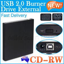 CD RW Writer Burner DVD Reader USB External Drive Black For PC Mac Win Laptop