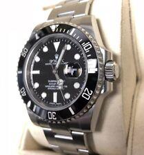 Rolex Submariner Black Dial Ceramic Bezel Steel Mens Watch 116610LN 40M Complete