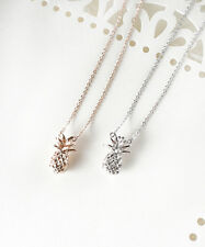 Pineapple Necklace, Gold Pineapple Necklace, Silver Pineapple Necklace, Dainty P