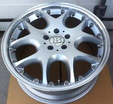 Brabus Mono V 2pc 8.5 X 19 ET 45 /10 X 19 ET 35 5:112 Silver Germany Set Of 4 Pc