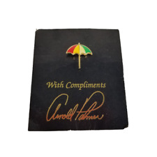 """Arnold Palmer Umbrella Golf Pin """"With Compliments"""" Augusta Masters Champion"""