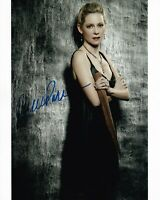 CARRIE PRESTON hand-signed TRUE BLOOD 8x10 uacc rd coa CLOSEUP W/ WOOD STAKE