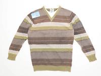 Next Mens Size L Cotton Striped Multi-Coloured Sweatshirt