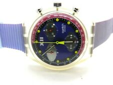 SWATCH WRISTWATCH CHRONOGRAPH  1992 WITH LIGHT TRACES OF USE FULL FUNKTIO