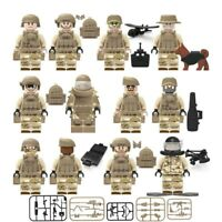 Army Military Marines 12 Minifigures Set + Accessories Lot - USA SELLER