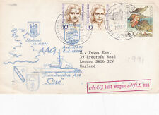 Germany 1991 Flotilla Boat A52 Oste Ships Post Cover VGC