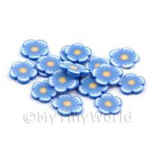 2x 50 rebanadas de caña de Flor Azul-Arte en Uñas (dns73)