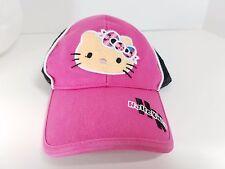 Youth girls HELLO KITTY baseball hat cap Snapback pink white Mesh Trucker Hat