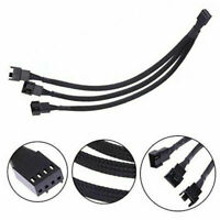 4-Pin PWM Sleeved Computer Case Fan Power Y-Splitter Adapter Extension Cable