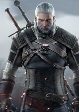 POSTER THE WITCHER 2 3 WILD HUNT WOLF LUPO GERALT OF RIVIA VIDEOGAME FANTASY #1