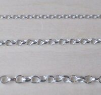 "925 Sterling Silver Belcher Extender Safety Chain 3"" inches Choose Width"