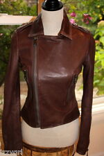 NWOT Andrew Marc Womens Leather Jacket Bomber Motorcycle Biker S