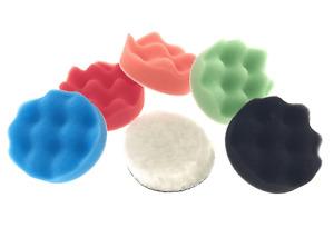 Polierscheiben Set Schaumstoff Microfaser Polierschwamm Klett 75mm Polier 6 tlg