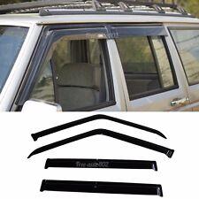Fits 84-01 Jeep Cherokee Acrylic Slim Type Window Visors 4Pc