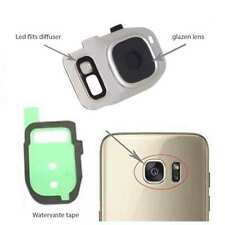 Samsung Galaxy S7/ S7 Edge achter camera lens cover, glas lens en LED diffuse...