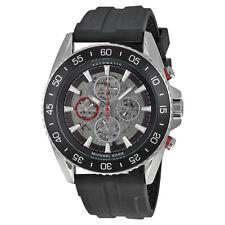 Michael Kors MK9013 Men' Jet Master Automatic Chrono Black Silicone Watch NIB