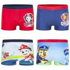 SIZE 2 TO 6 BNWT PAW PATROL BOYS SWIMMING COSTUMES SET SWIMMERS