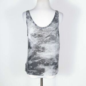 Helmut Lang Gray Hi-Lo Tank Top Large