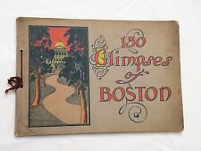 1904, 150 GLIMPSES OF BOSTON, Cambridge/Lexington.., John Murray SB PHOTOS NICE!