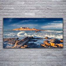 Acrylglasbilder Wandbilder Druck 120x60 Meer Steine Landschaft