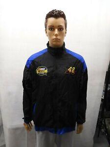 Retro Jimmy Johnson Checkered Flag Sports NASCAR Jacket L