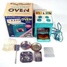 Vintage Topper Suzy Homemaker Super Safety Oven With Utensils In Box Works
