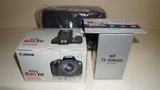 New Canon EOS Rebel T6 18MP Digital SLR Camera Kit w/18-55mm II 75-300mm III Bag