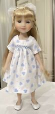 Boneka Hand Smocked Heart dress for Ruby Red Fashion Friends 14.5 doll