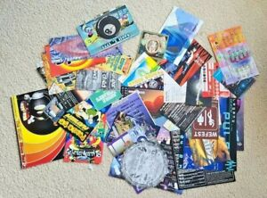 40 Different Vintage Flyers from 1990's Rave Music Parties Bars Clubs Rare!!