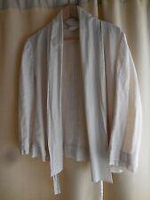 Donna Karen Pure DKNY Linen Jacket Wrap Coat Cover Spring Summer Top