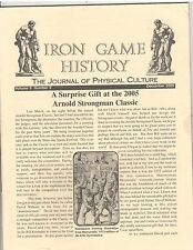 Iron Game History Bodybuilding Magazine Arnold Strongman Classic 12-05 vol 9 #2