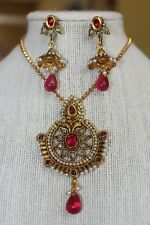 Plated Necklace Jewelry Kundan Necklace Kundan Set- Indian Handmade Gold