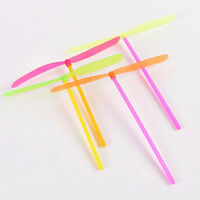 10Pcs Hand Rubbing Bamboo Dragonfly Toys Flying Saucer Flying Disk Toys LY