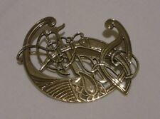 modern Scottish Celtic design 9ct solid gold brooch