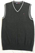 New Tommy Hilfiger Grey Cotton Knitted V Neck Tank Top /Vest -Mens XXL