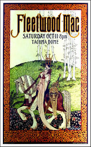 Fleetwood Mac Poster Tacoma Dome Original Lithograph Hand-Signed Bob Masse