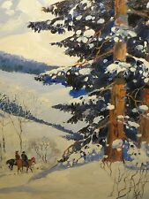 "22x27 RARE original 1949 oil on canvas painting by PAUL GREGG ""Always Beautiful"""